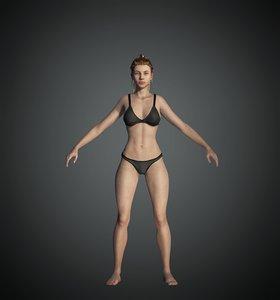 female character base model