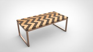 herringbone dining table model