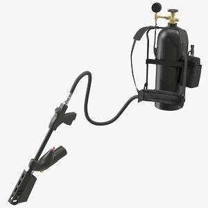 modern portable backpack flamethrower 3D