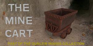 3D model cart industrial mining