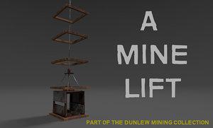 3D lift industrial mining model