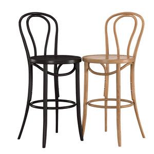 3D bentwood bar stool bst-18 model