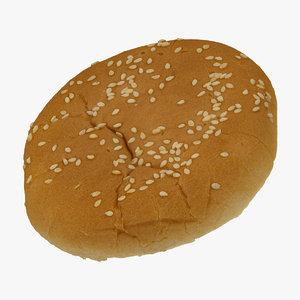 hamburger bun 01 raw 3D model