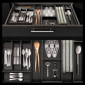 3D kitchen organizer model