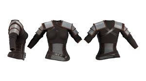 medieval female warrior 3D model