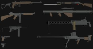 pack usa weapon model