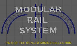 3D modular rail model
