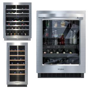 3D model refrigerator wine