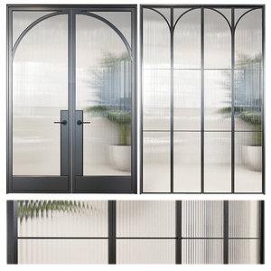 glass classic door 3D model