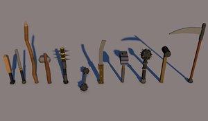 3D model weapon melee
