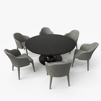 Fendi Dining Table Chair Set  - PBR