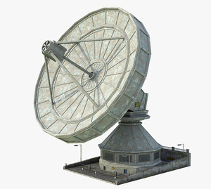 radio telescope 3D model