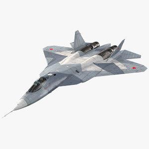 3D sukhoi su 57 flight