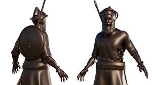 3D nihang sikh warrior