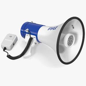 3D model pyle pmp51lt megaphone speaker