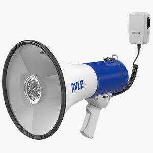 3D pyle pmp51lt megaphone siren