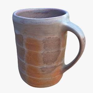 3D mug ceramic rustic