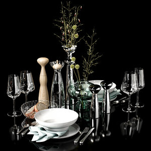 kitchen decor set 08 3D