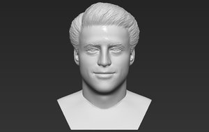joey tribbiani bust printing 3D model