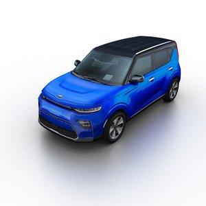 2020 kia soul ev 3D model