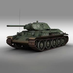 3D model t-34-76 - stz 1941