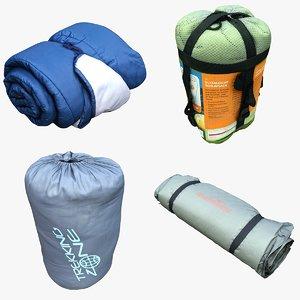 sleeping bag 3D
