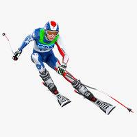 Female Skier Animated HQ