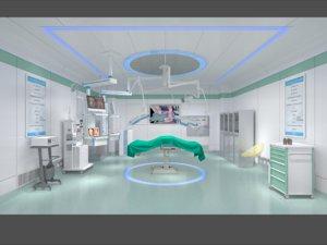 3D operating room ward scene