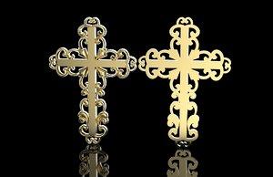 jewelry cross 3D model