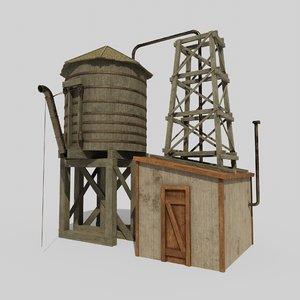 old watertower model