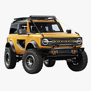 3D 2021 bronco 2-door model