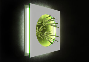 3D light alien flower alisa model