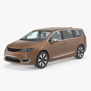 family minivan rigged car 3D model