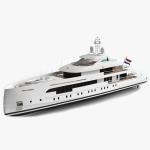 altea 50m luxury yacht 3D