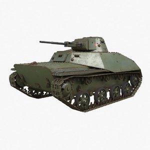 t 40 soviet tank 3D