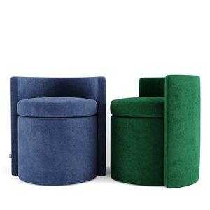 stool chair seat 3D model