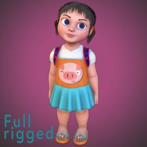 rig rendering animation model