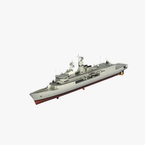 3D anzac class frigate model