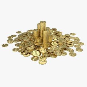 euro coin pile model