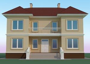 300sq m villa building 3D model