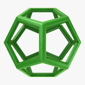3D dodecahedron scanline ready