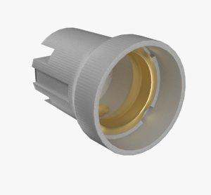 3D model ceramic lamp holder