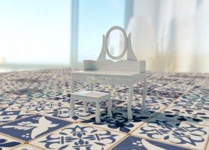 vanity stool 3D model