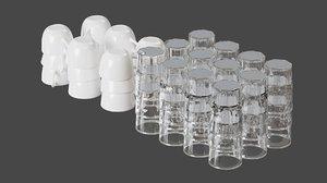 3D cups set model