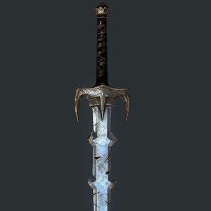 two-handed sword dragon slayer 3D model
