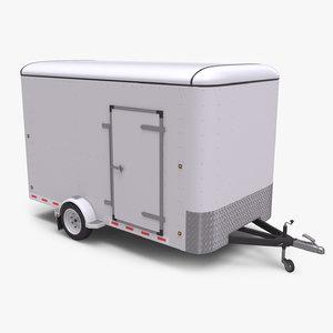 small cargo trailer single 3D