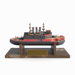 modeled ship 3D