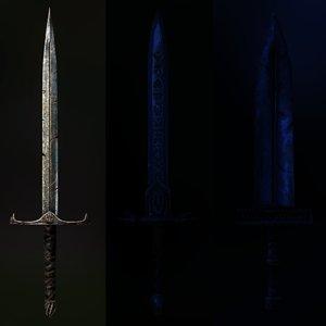 hero sword 3D model