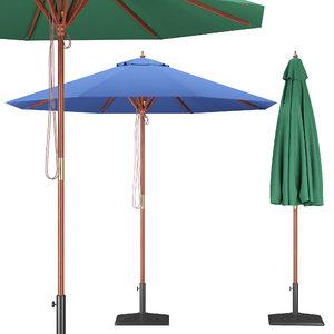 3D garden parasol