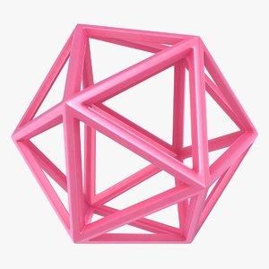 icosahedron scanline ready 3D model